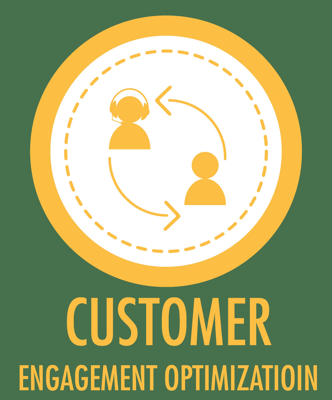 customer engagement optimization solutions graphic