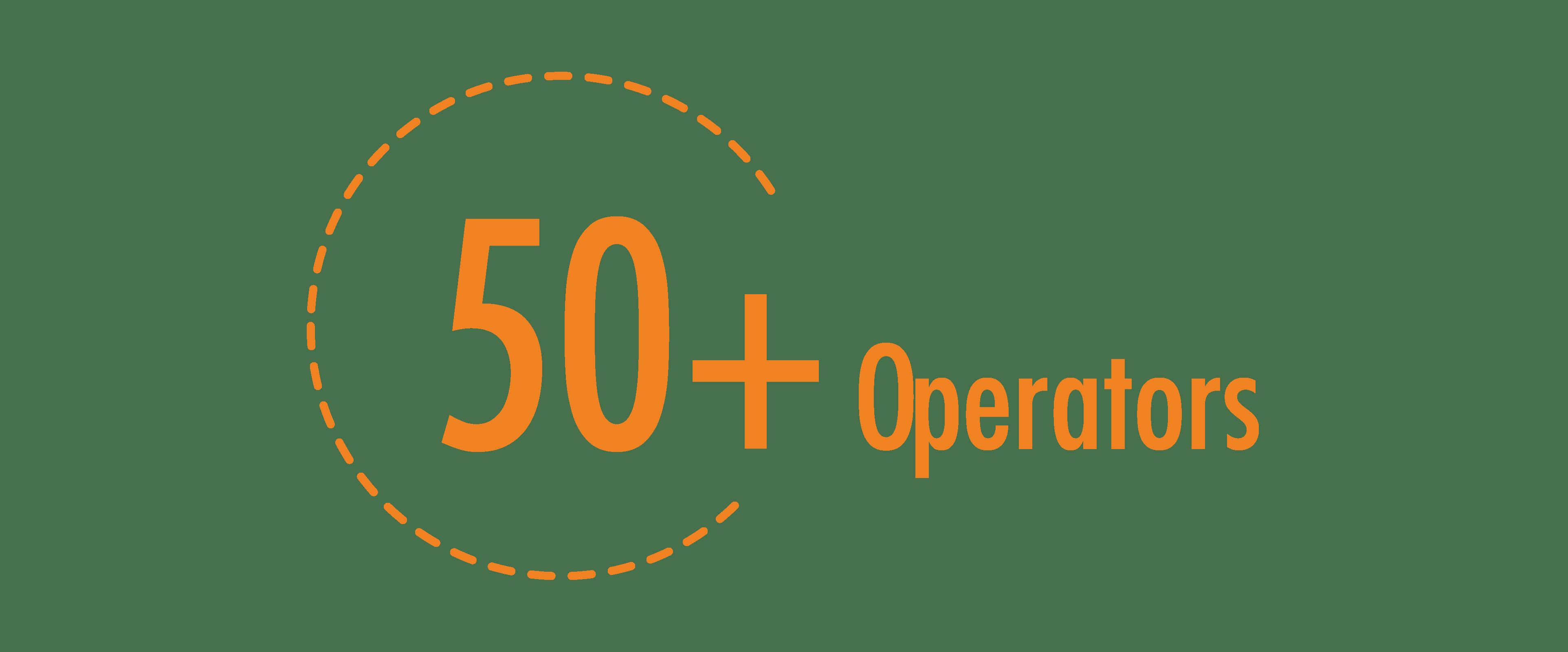 number of operators 50