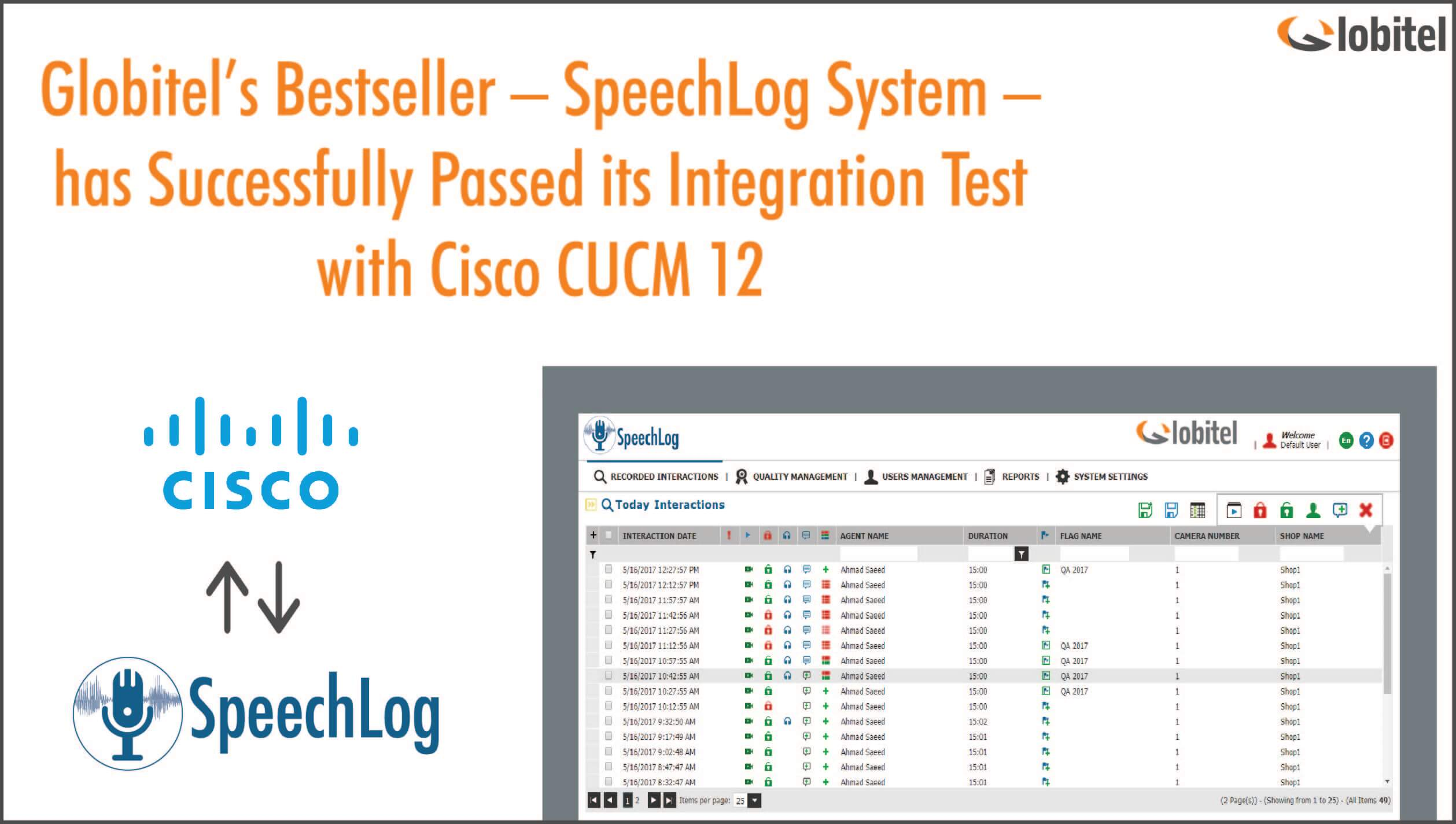 globitel speechlog integration with cisco cucm 12 (2)