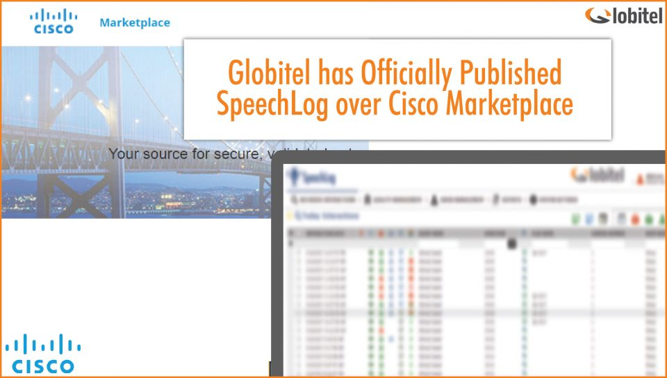 globitel speechlog over cisco marketplace